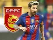 """Messi liêu xiêu vì lương  """" khủng """"  từ Trung Quốc, Barca tá hỏa"""