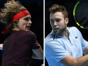 Zverev - Jack Sock: Bùng nổ set 2, cay đắng rời giải (ATP Finals)