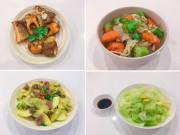 Thực đơn 4 món đơn giản mà đầy đủ rau thịt cá