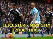 Leicester - Man City:  Chủ công  Aguero bị ngất, Man xanh cũng  hắt hơi ?