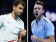 """TRỰC TIẾP Dimitrov - Jack Sock:  """" Tử chiến """"  ở set cuối (Bán kết ATP Finals)"""