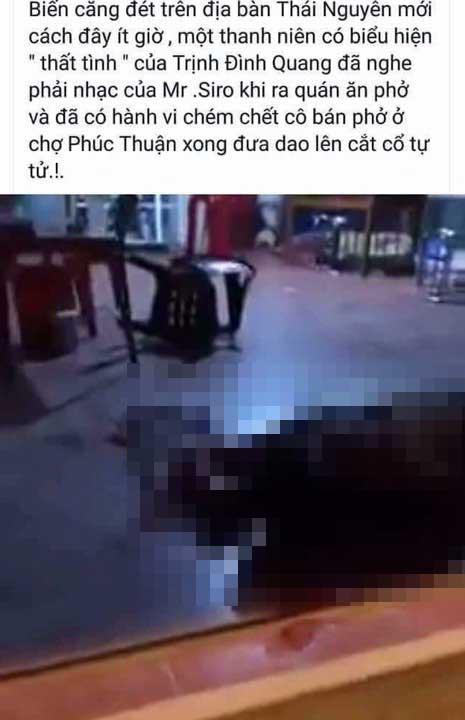 Sát hại dã man nữ chủ quán rồi cắt cổ tự tử - 1