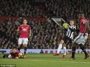 """TRỰC TIẾP MU - Newcastle: Cú đúp đánh đầu,  """" Quỷ đỏ """"  vượt lên"""