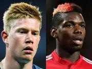 MU - Man City đua bá vương: Pogba đấu De Bruyne như Messi - Ronaldo