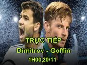 TRỰC TIẾP Dimitrov - Goffin: Break dồn dập tới