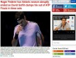 """Federer  """" vỡ mộng """"  ATP Finals: Báo chí sốc nặng, gửi lời chia buồn"""