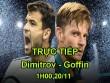 """TRỰC TIẾP tennis Dimitrov - Goffin: Chờ  """" ngựa ô """"  tạo kỳ tích (Chung kết ATP Finals)"""
