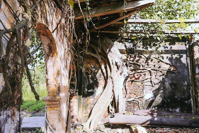 Kỳ thú đình làng nằm gọn trong bộ rễ của hai cây bồ đề - 9