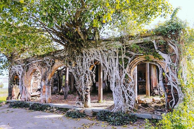 Kỳ thú đình làng nằm gọn trong bộ rễ của hai cây bồ đề - 2