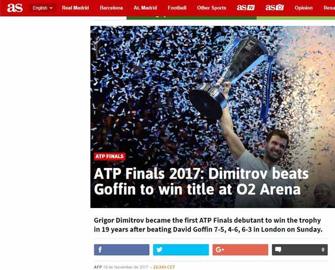 """Dimitrov lập kỉ lục ATP Finals: Báo chí ngợi ca """"nhạc trưởng"""" đại tài 3"""