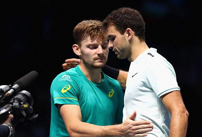 Dimitrov - Goffin: Mãn nhãn người xem, nâng cúp nghẹt thở (Chung kết ATP Finals)