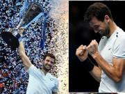 """"""" Tiểu Federer """"  khóc ngon lành, nâng cúp ATP Finals lịch sử"""