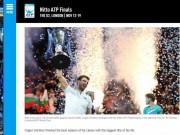 """Dimitrov lập kỉ lục ATP Finals: Báo chí ngợi ca  """" nhạc trưởng """"  đại tài"""