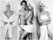 Kích thích với hình quấn khăn tắm của nam thanh nữ tú làng mẫu
