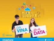VinaPhone tăng gấp 2 dung lượng tất cả gói Data 3G/4G