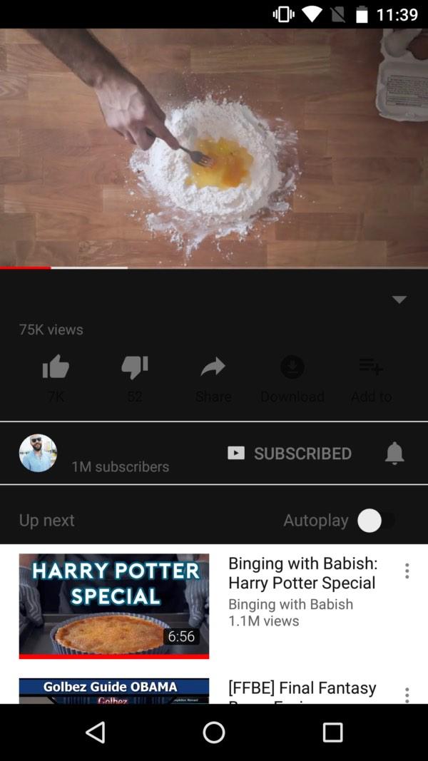 Google đang phát thử nghiệm chế độ đọc ban đêm cho YouTube