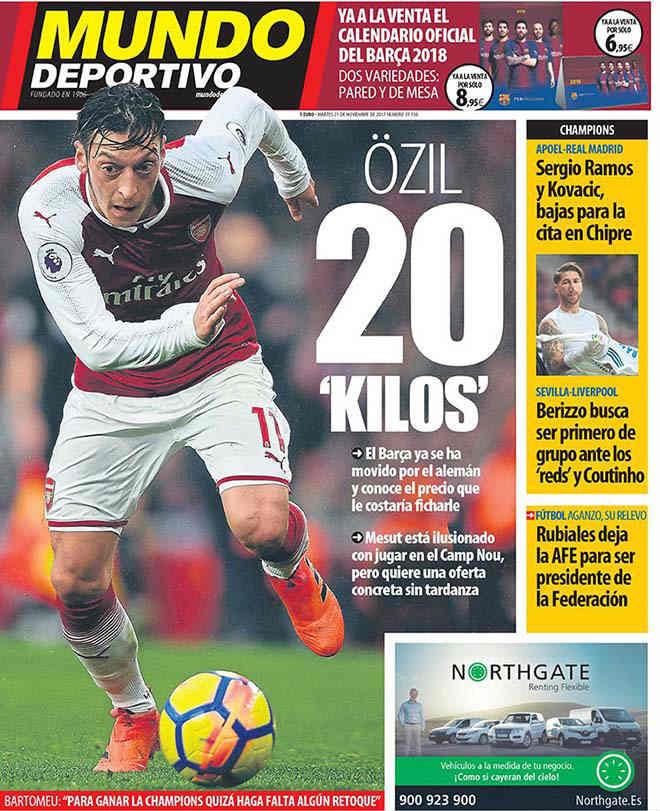 """""""Siêu kinh điển"""" chuyển nhượng: Barca mua Ozil, Real tậu Sanchez 2"""