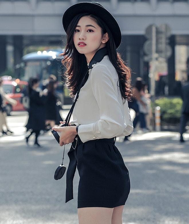 Á hậu Thanh Tú mặc mát mẻ giữa trời giá rét tại Nhật - 9