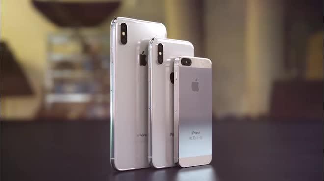 Video: Lóa mắt trước ý tưởng iPhone X Plus và iPhone XS