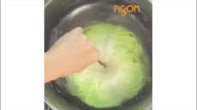 Đổi vị bữa tối với bắp cải cuộn thịt lạ miệng mà trôi cơm