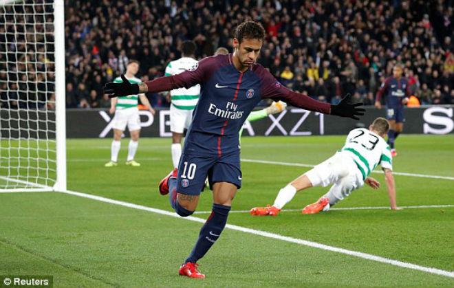 """PSG - Celtic: Neymar rực sáng, tưng bừng """"tiệc"""" 8 bàn"""