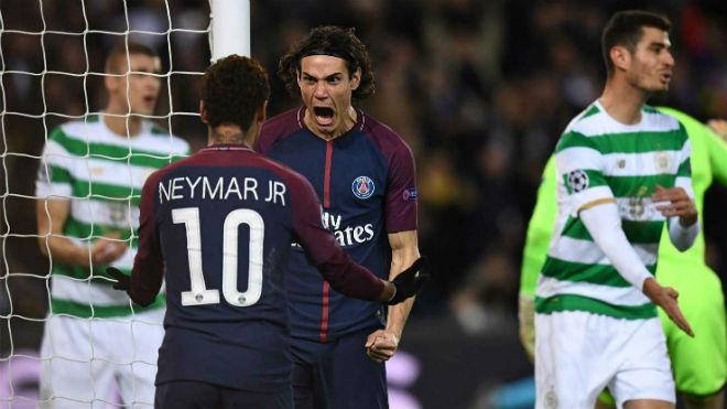 """Tuyệt tác cúp C1: Griezmann """"ngả bàn đèn"""", Neymar đua """"săn bàn"""" Cavani 8"""