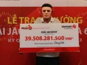 Người trúng jackpot hơn 39,5 tỉ đồng của Vietlott là ai?