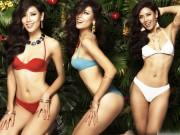 """Nguyễn Thị Loan phô bày trọn vẹn số đo  """" vàng """"  90-63-95 cm với bikini"""