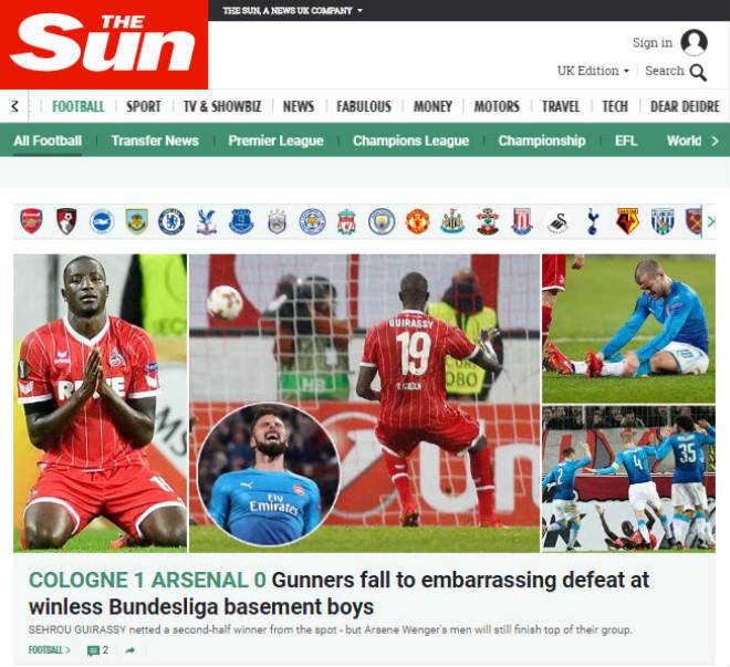 """Arsenal thua sốc: Báo Anh chê tơi tả, rộ tin Wenger sắp """"về vườn"""" 4"""