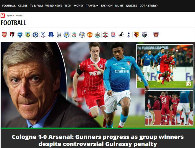 """Arsenal thua sốc: Báo Anh chê tơi tả, rộ tin Wenger sắp """"về vườn"""" 6"""
