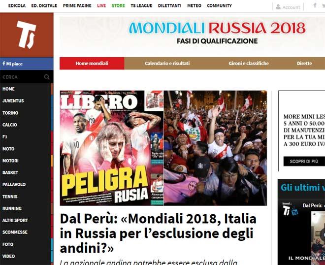 """Báo chí Italia chờ """"phép màu"""" dự World Cup, cảm ơn nghị sỹ Peru - 2"""