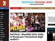 Báo chí Italia chờ  phép màu  dự World Cup, cảm ơn nghị sỹ Peru