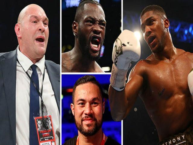 """Vua boxing Joshua tuyên chiến 3 """"gã khổng lồ"""": Hạ Wilder bằng 1 cú đấm 1"""