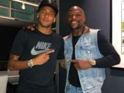 Neymar thần tượng Mayweather: Mê tiền, mơ là  độc cô cầu bại