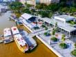 """Xe buýt """"  chạy trên nước hoạt động, người SG xếp hàng để trải nghiệm"""