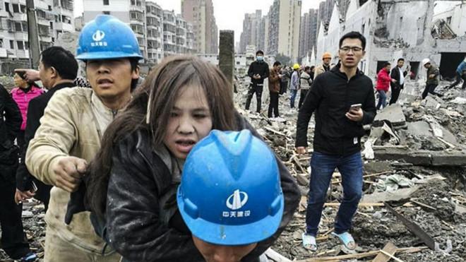 Nổ lớn ở Trung Quốc làm sập hàng loạt toà nhà