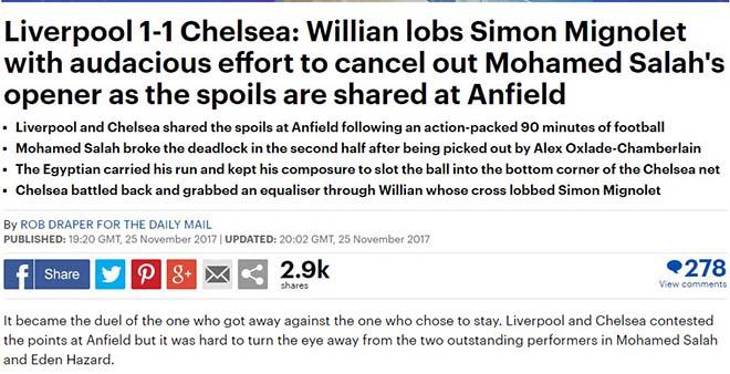 """Báo chí Anh """"tổng tấn công"""" tội đồ Mignolet, khen hết lời siêu anh hùng Salah 2"""