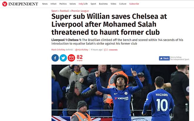 """Báo chí Anh """"tổng tấn công"""" tội đồ Mignolet, khen hết lời siêu anh hùng Salah 7"""
