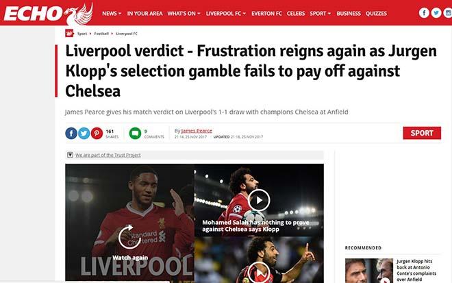 """Báo chí Anh """"tổng tấn công"""" tội đồ Mignolet, khen hết lời siêu anh hùng Salah 3"""