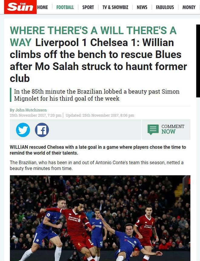 """Báo chí Anh """"tổng tấn công"""" tội đồ Mignolet, khen hết lời siêu anh hùng Salah 4"""
