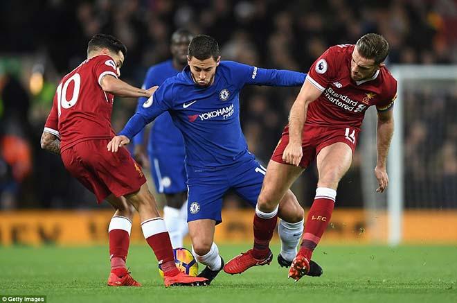 """Góc chiến thuật Liverpool - Chelsea: Salah ngang trình Hazard, Klopp """"điên"""" như Conte 4"""