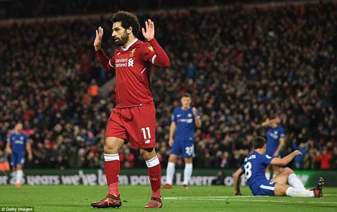 """Góc chiến thuật Liverpool - Chelsea: Salah ngang trình Hazard, Klopp """"điên"""" như Conte 3"""