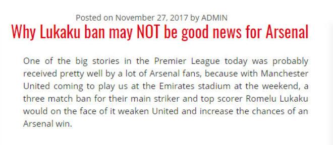 """""""Côn đồ"""" Lukaku thoát tội: MU vui, fan Arsenal cũng... """"mở hội"""" 8"""