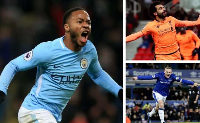 """Vua săn điểm Ngoại hạng: Sterling số 1, Rooney """"ngon"""" hơn Lukaku 1"""