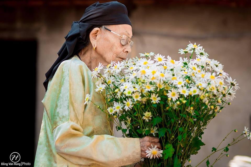 Ảnh cụ bà 99 tuổi bên cúc họa mi đẹp ngất ngây khiến dân mạng chao đảo - 3