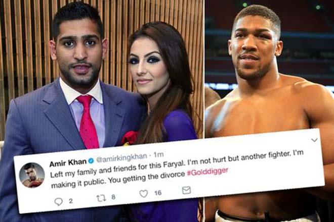 """Bị """"Vua boxing"""" Joshua cướp vợ, sự nghiệp Amir Khan cũng trượt dài 1"""