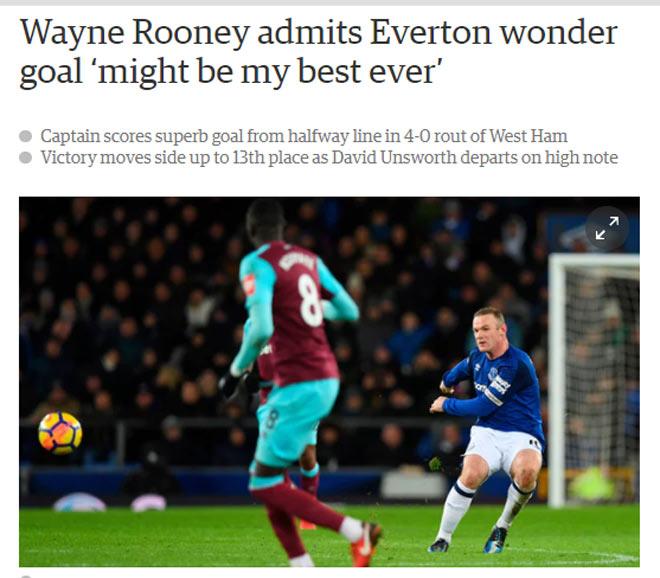 """Rooney hattrick thần sầu: David Moyes """"cạn lời"""", Everton mơ hồi sinh 2"""