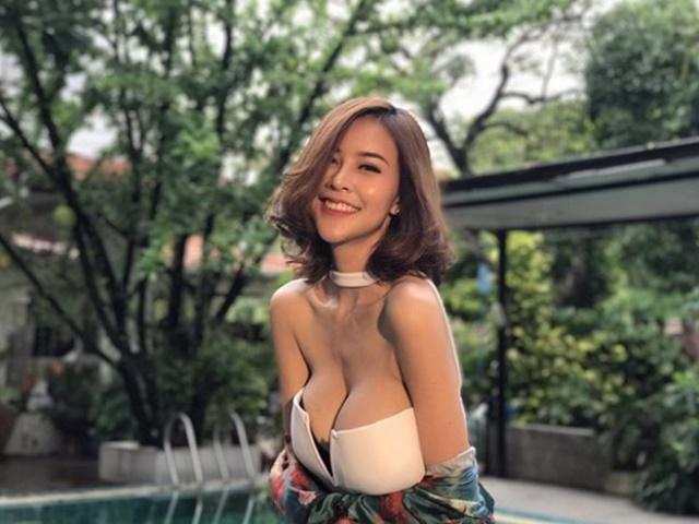"""Hết hồn với nàng người mẫu Thái Lan có """"núi đôi"""" như sắp nổ tung"""