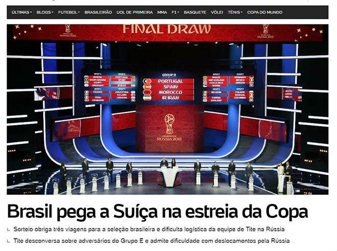 Bốc thăm World Cup: Báo Tây Ban Nha sợ Ronaldo, truyền thông Anh ngại Brazil 8