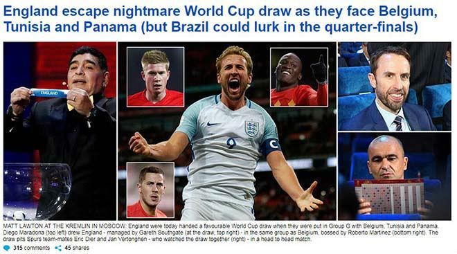 Bốc thăm World Cup: Báo Tây Ban Nha sợ Ronaldo, truyền thông Anh ngại Brazil 3